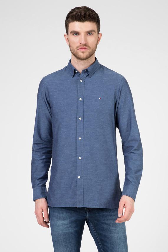 Мужская синяя рубашка SLIM HEATHER ARROW DOBBY