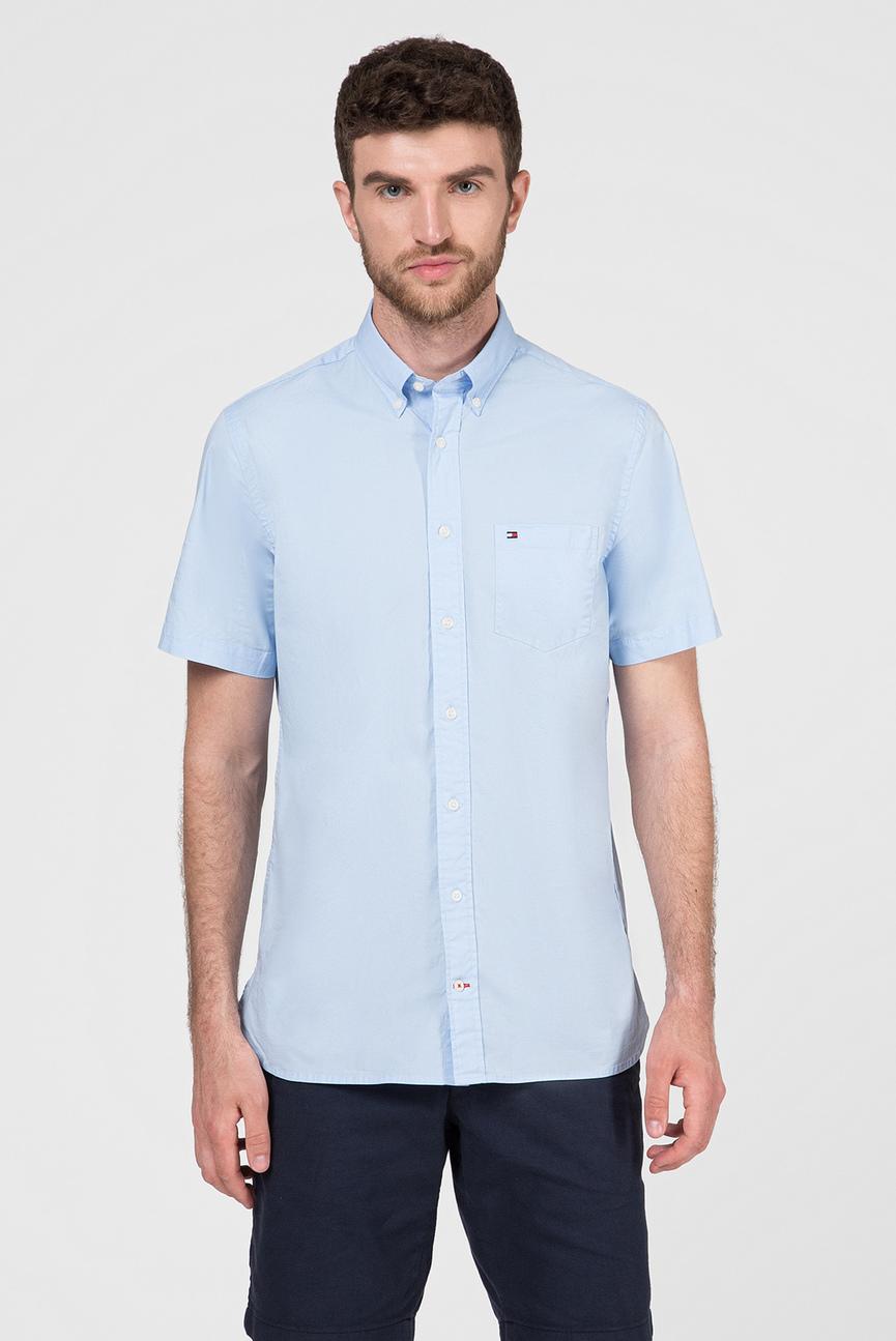 Мужская голубая рубашка STRETCH POPLIN