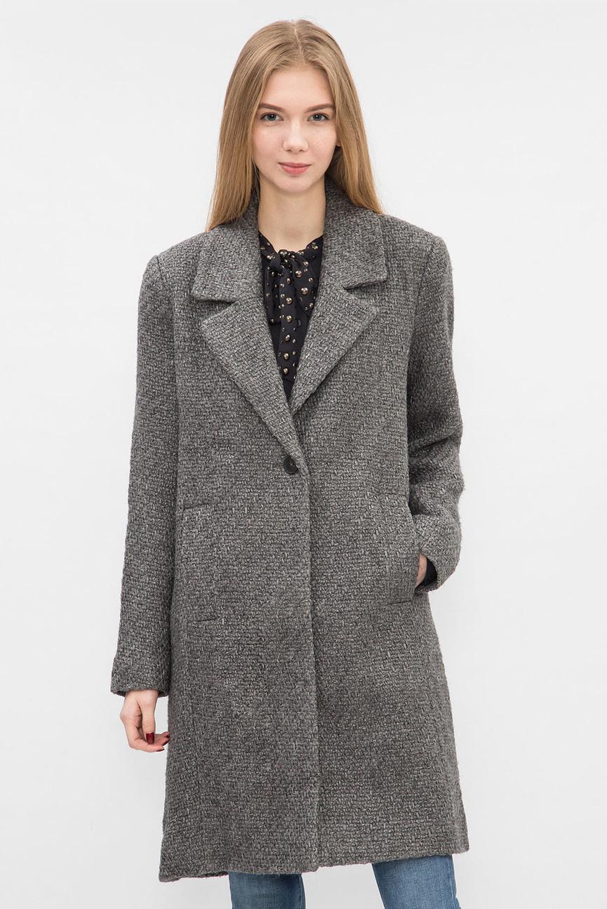 Женское серое пальто