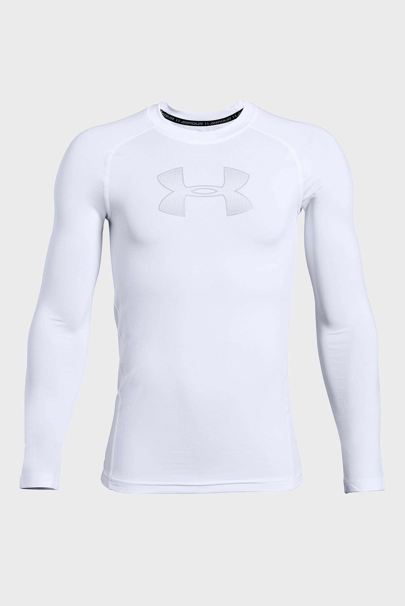 Купить Детский белый лонгслив Armour HeatGear Long Sleeve Under Armour Under Armour 1343014-101 – Киев, Украина. Цены в интернет магазине MD Fashion