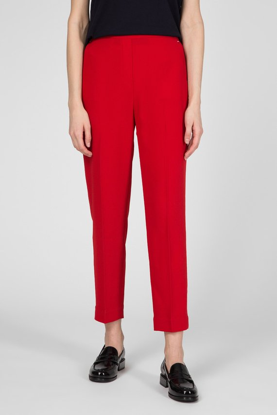 Женские красные брюки TH ESS POLY TWILL TAPERED