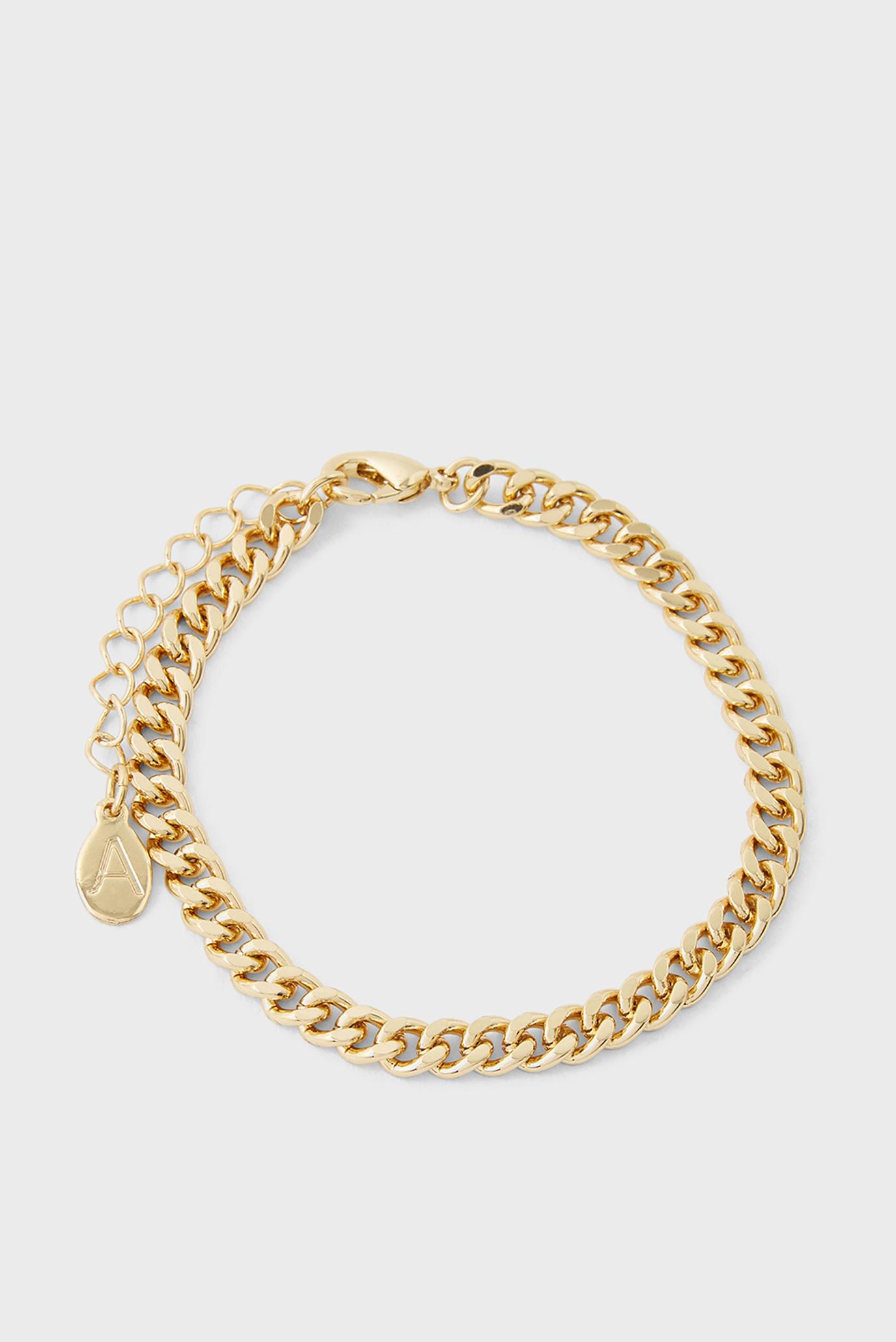 Женский золотистый браслет SIMPLE MEDIUM CHAIN B 1