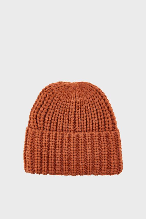 Женская коричневая шапка THINS BEA CHUNKY TUR