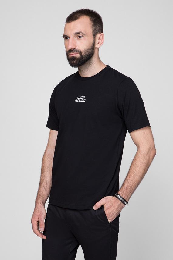Мужская черная футболка T-JUST-A8 MAGLIETTA