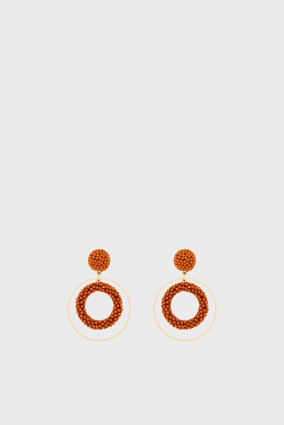 Женские оранжевые серьги NEW GEMMA BEADED
