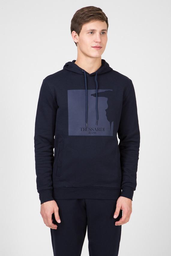 Мужское темно-синее худи REGULAR FIT