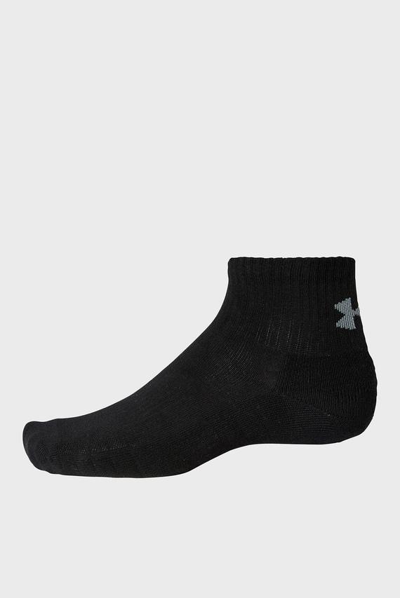 Черные носки UA Training Cotton QTR (3 пары)