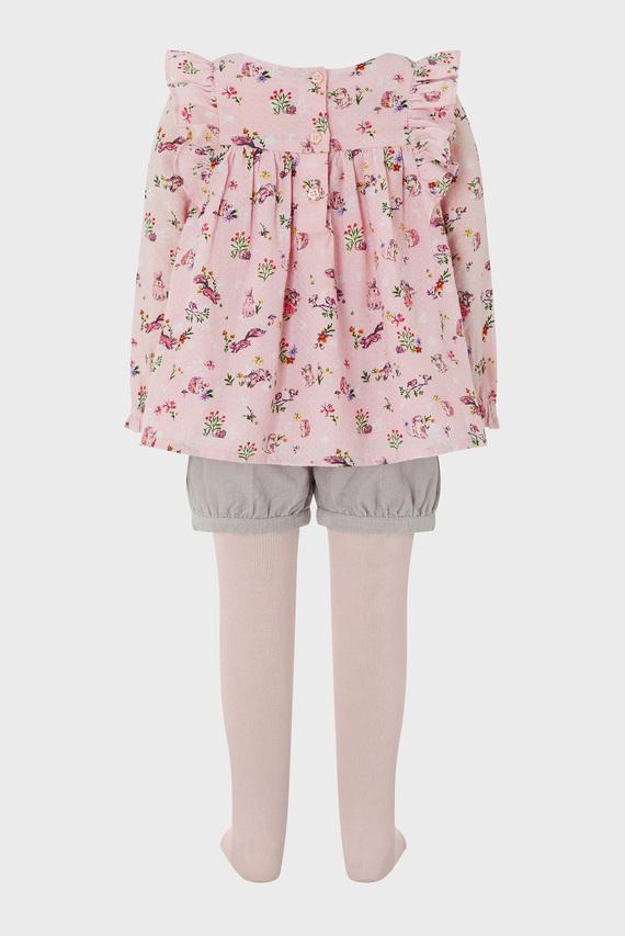 Детский розовый набор одежды (шорты, блуза, колготки) BABY VERANA SET