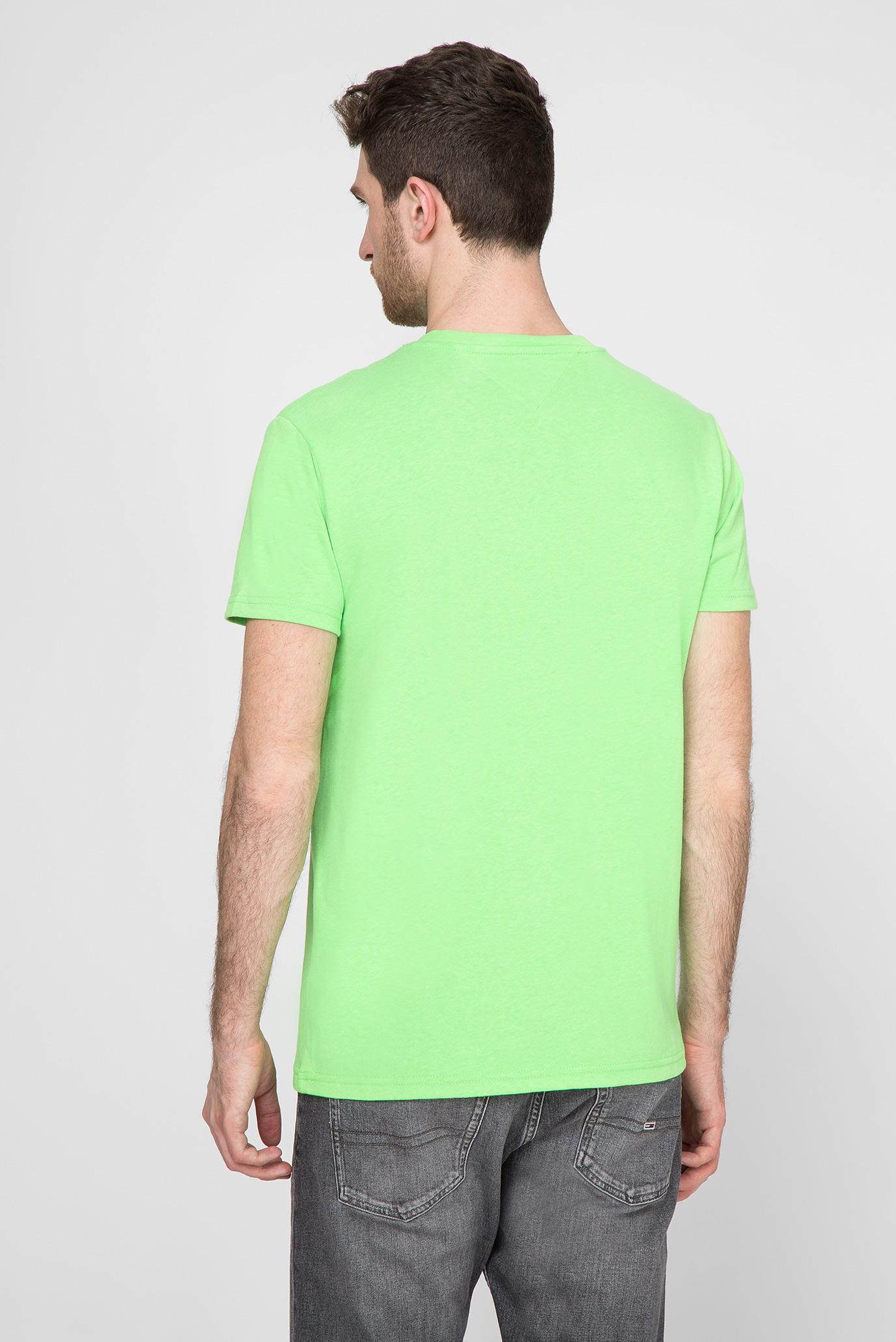 Мужская салатовая футболка TJM TOMMY BADGE NEON Tommy Hilfiger