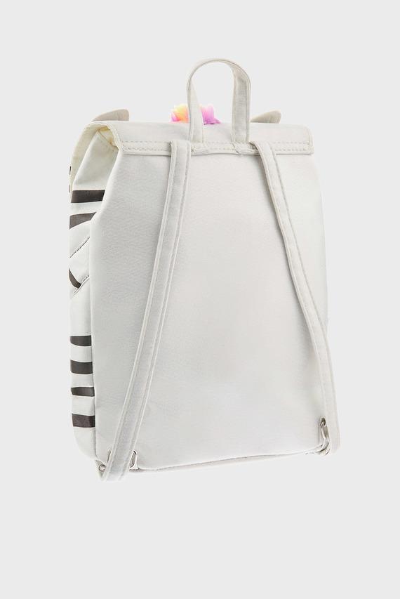 Детский белый рюкзак ZOE ZEBRA RAINBOW BA