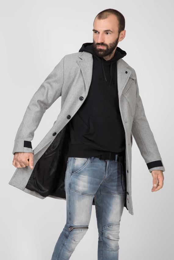 Мужское серое шерстяное пальто Varve