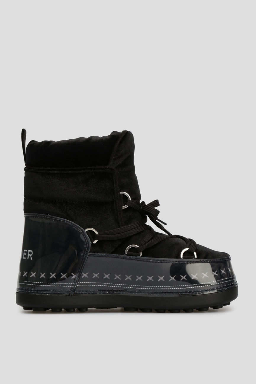 Женские черные сапоги-луноходы TROIS VALLEES 6B