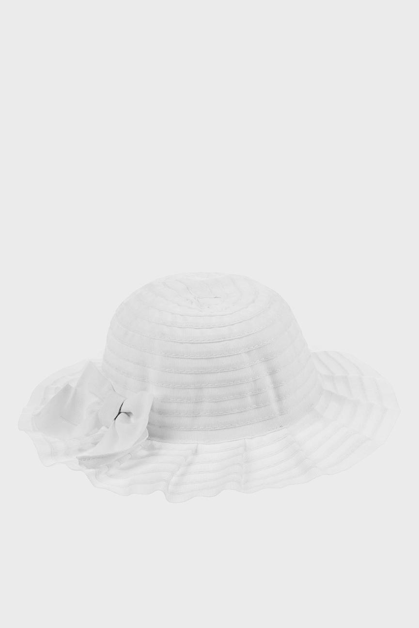 Детская белая шляпа BABY PLEATED BOW