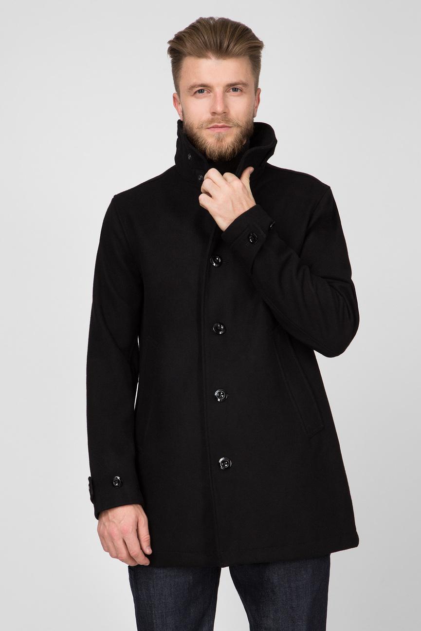Мужское черное пальто Garber