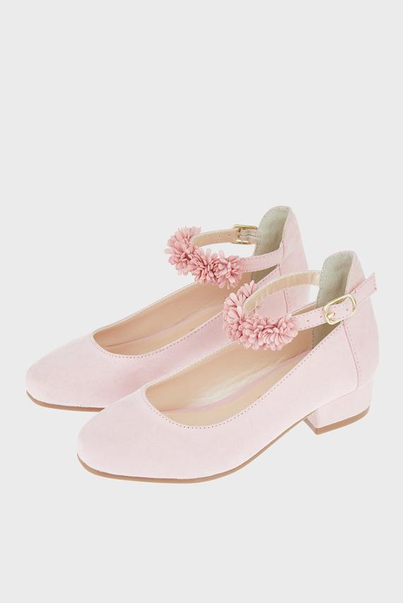 Детские розовые туфли THEA FLORAL STRAP