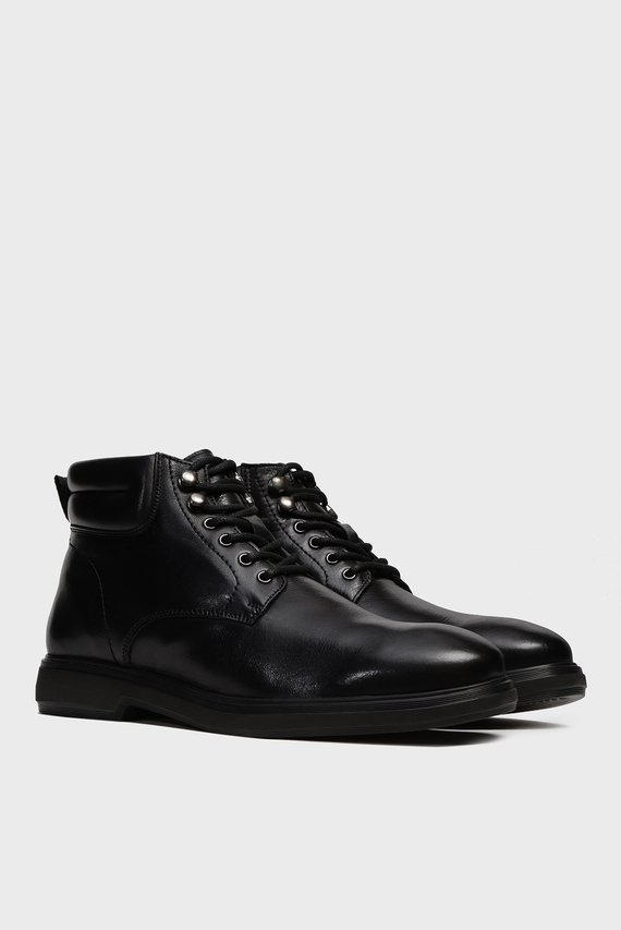 Мужские черные кожаные ботинки Essex