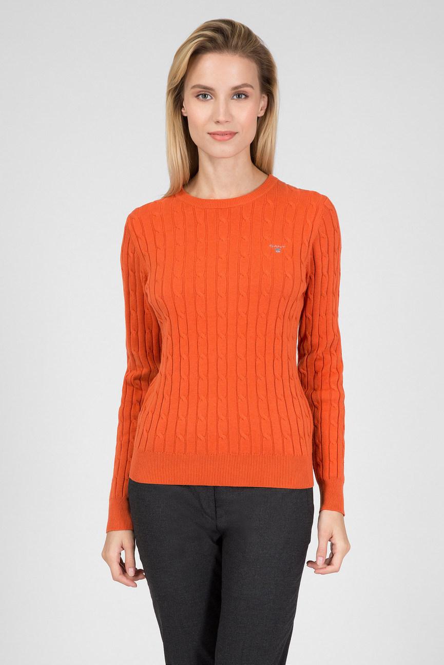 Женский оранжевый джемпер