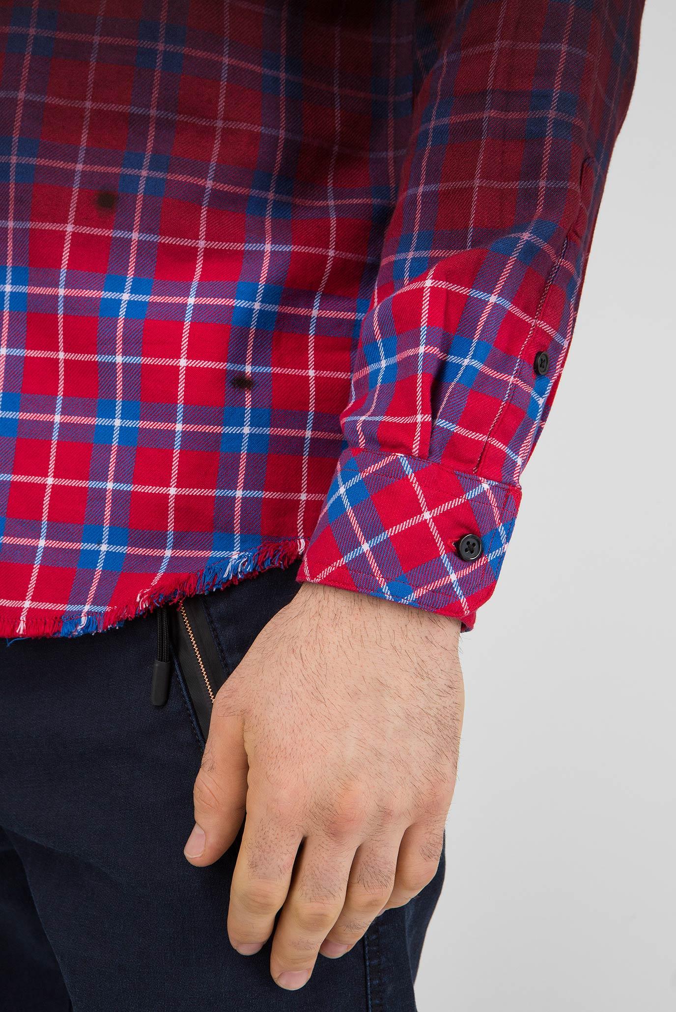 Купить Мужская бордовая рубашка в клетку S-MILLER CAMICIA Diesel Diesel 00SIJ9 0DATY – Киев, Украина. Цены в интернет магазине MD Fashion