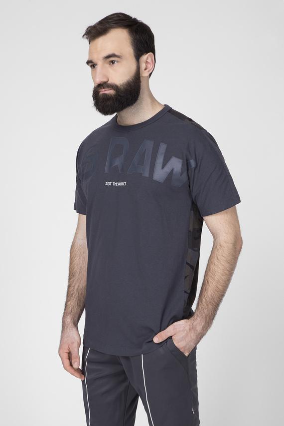 Мужская темно-серая футболка Gsraw Back