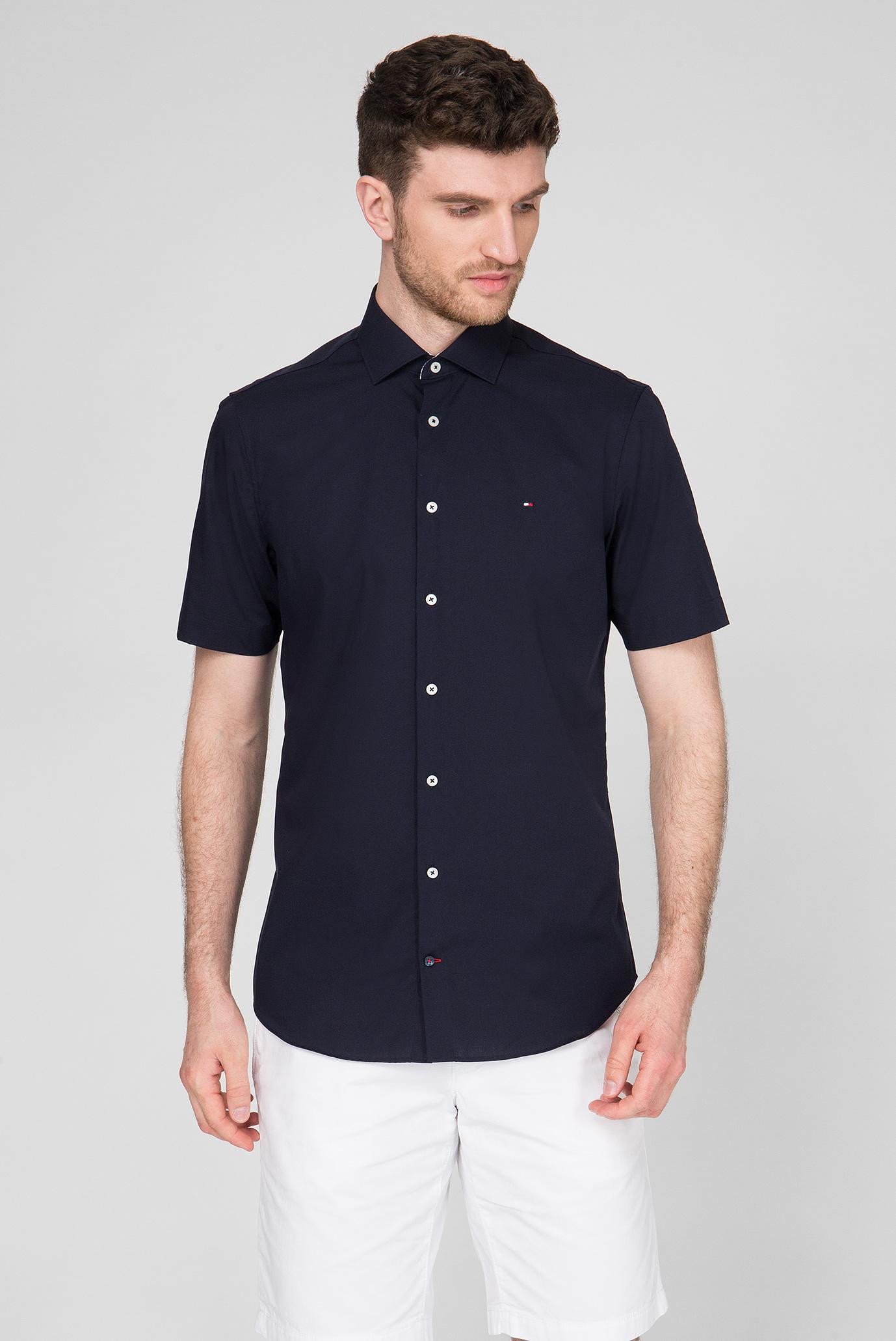 Мужская темно-синяя рубашка Slim Fit Tommy Hilfiger