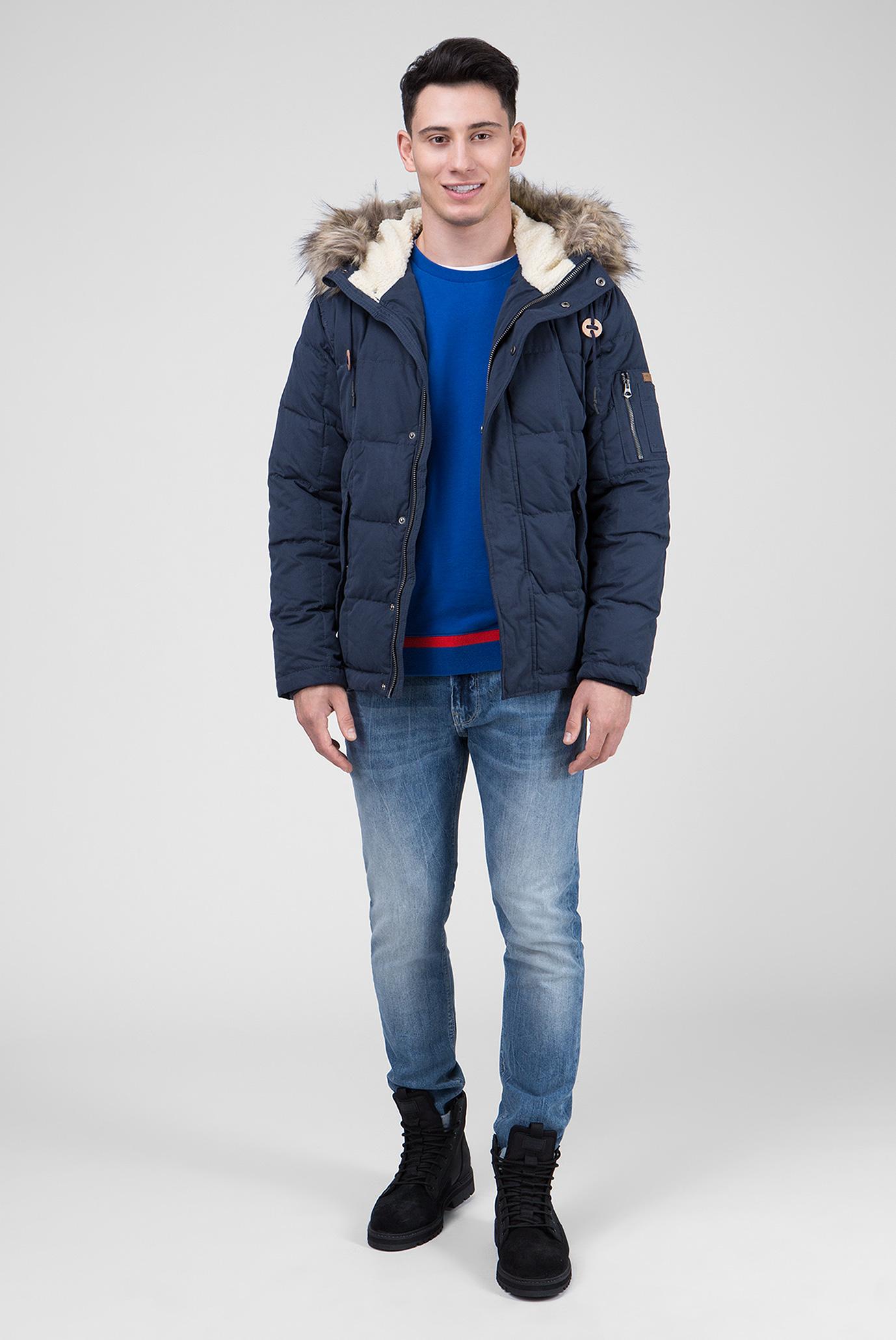 Купить Мужской синий пуховик DRURY Pepe Jeans Pepe Jeans PM401895 – Киев, Украина. Цены в интернет магазине MD Fashion