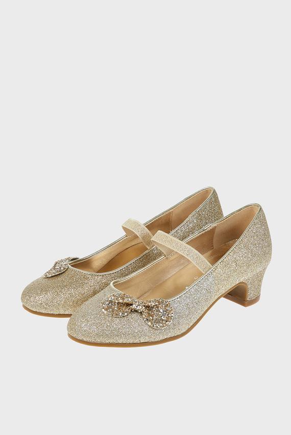 Детские золотистые туфли GLITTER BOW FLAMENCO