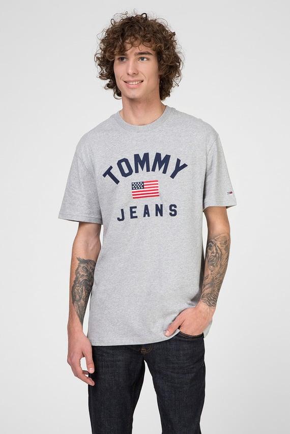 Мужская серая футболка TJM USA FLAG