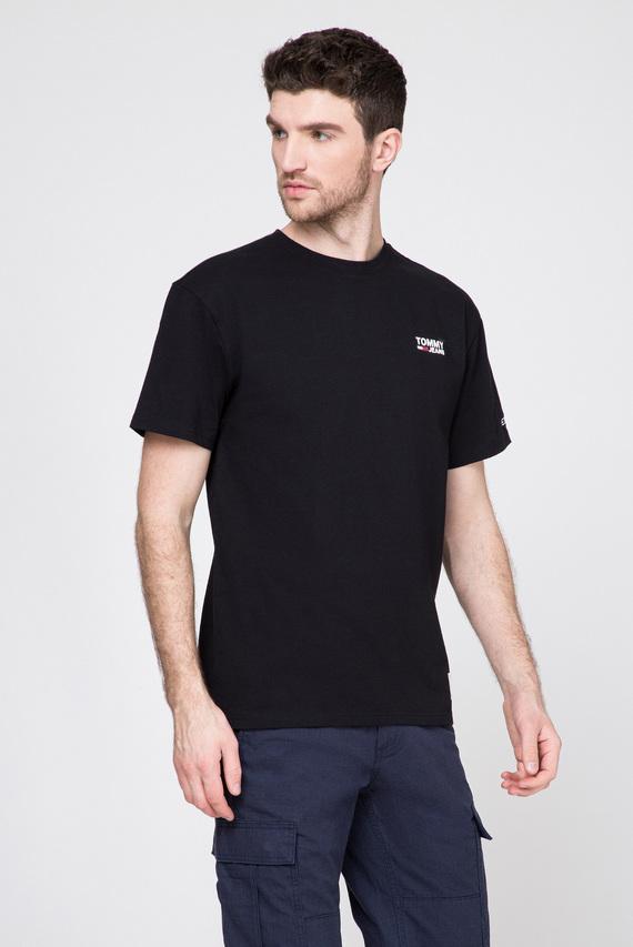 Мужская черная футболка TJM CHEST CORP LOGO