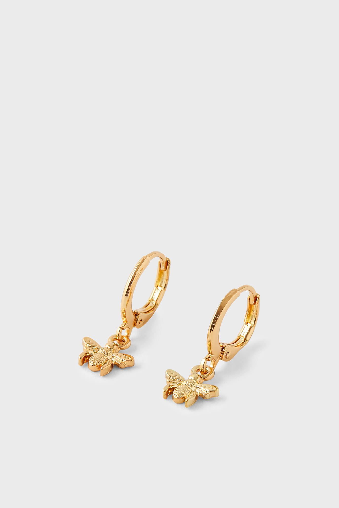 Жіночі золотисті сережки BEE CHARM 1