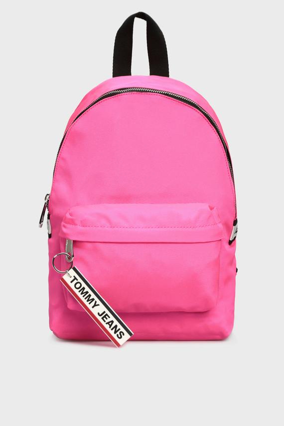 Женский розовый рюкзак TJW LOGO TAPE MI