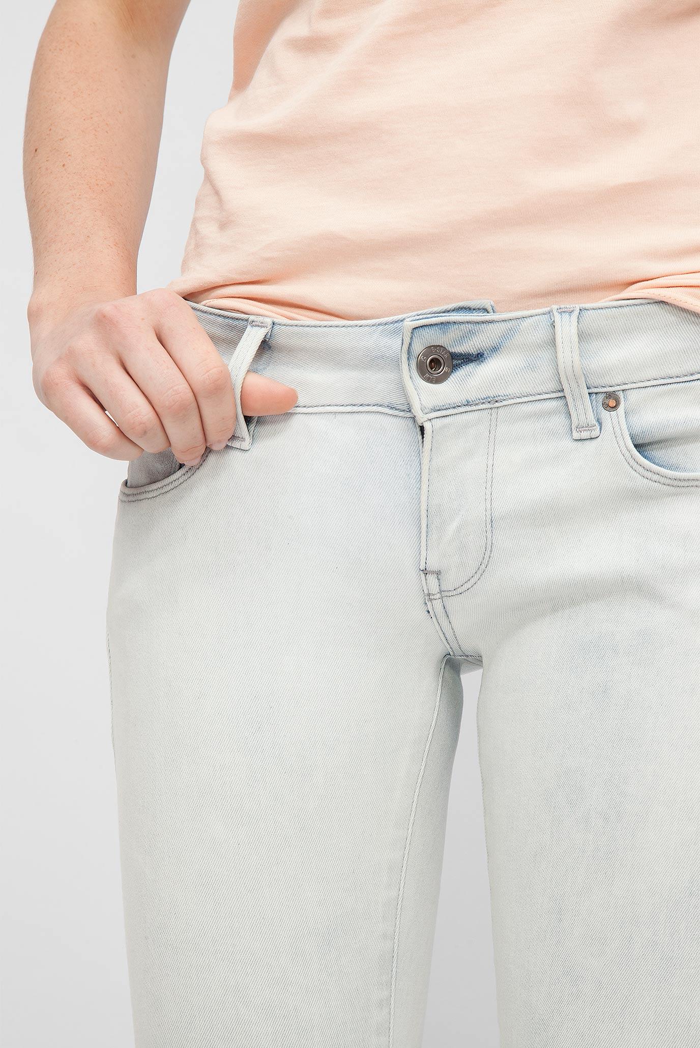 Женские голубые джинсы Low Super Skinny G-Star RAW