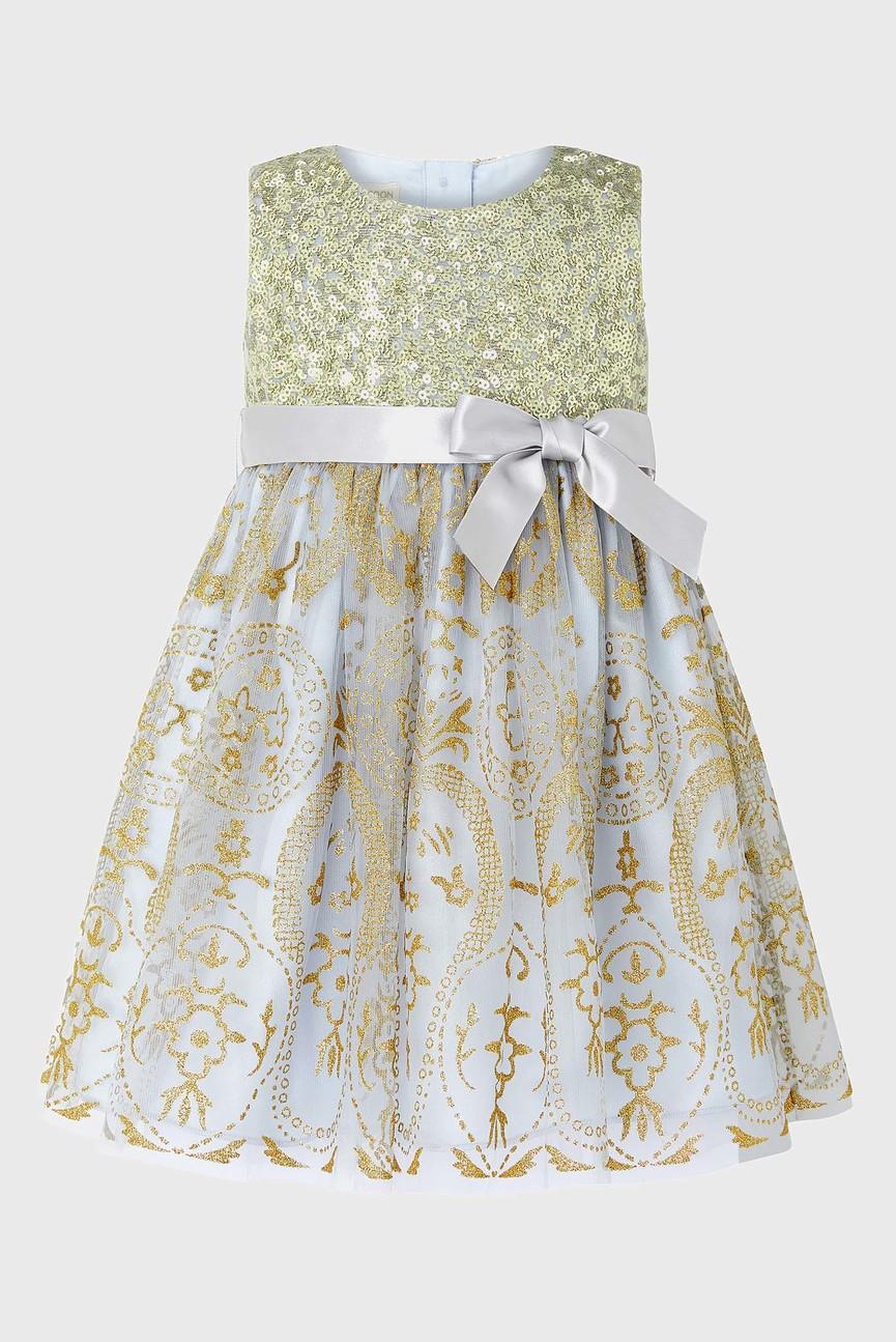 Детское золотистые платье BABY TATANIA
