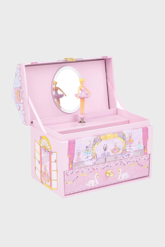 Детская розовая шкатулка Pirouette Ballerina