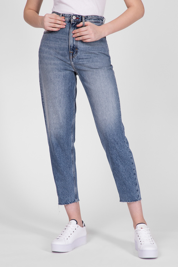 Женские голубые джинсы MOM JEAN HIGH RISE TAPERED