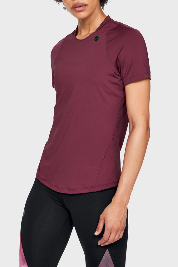 Женская фиолетовая футболка UA Rush Short Sleeve