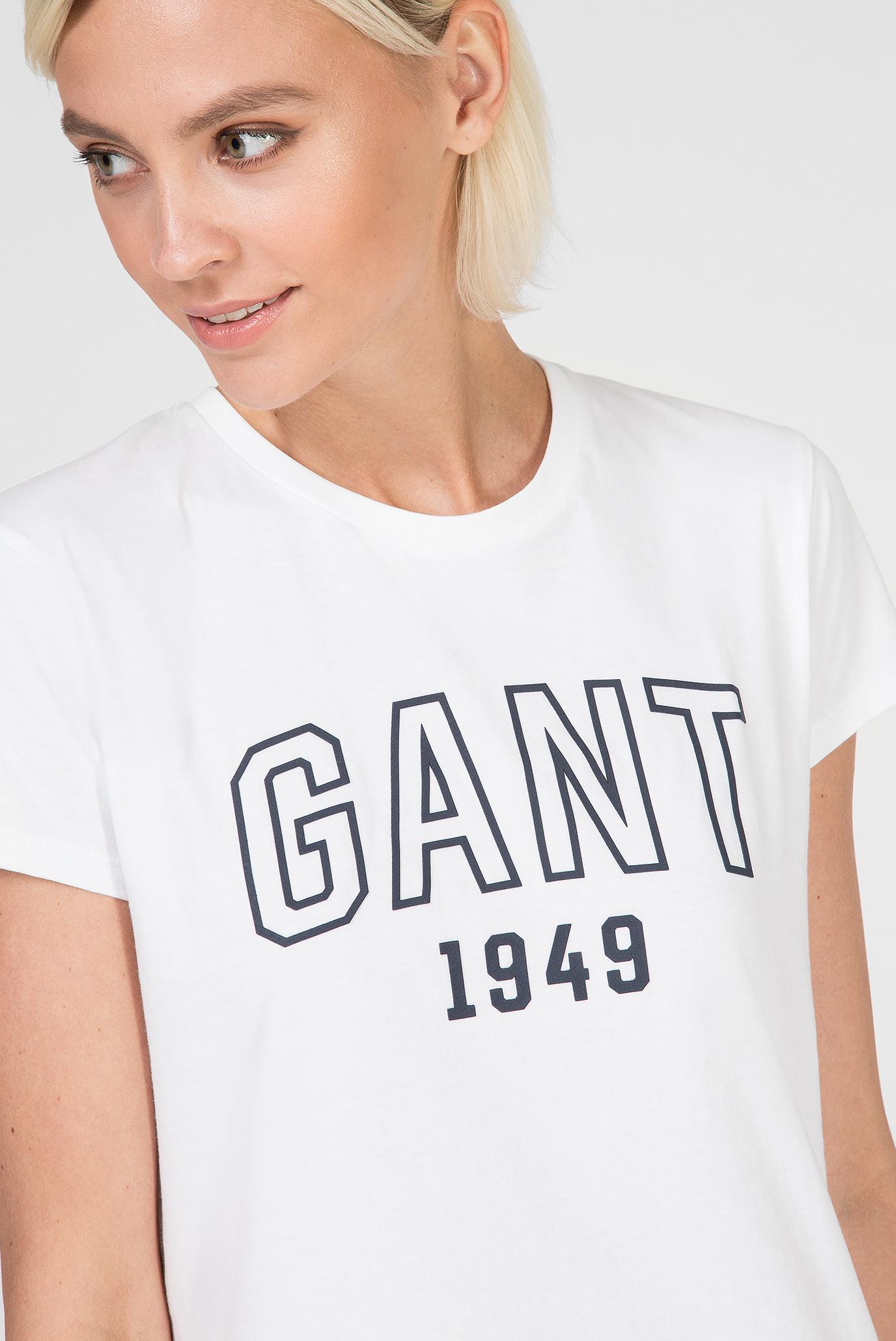 Женская белая футболка Gant