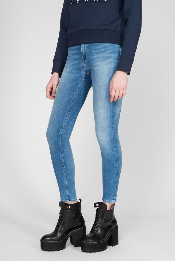 Женские голубые джинсы SANTANA HIGH RISE SKINNY