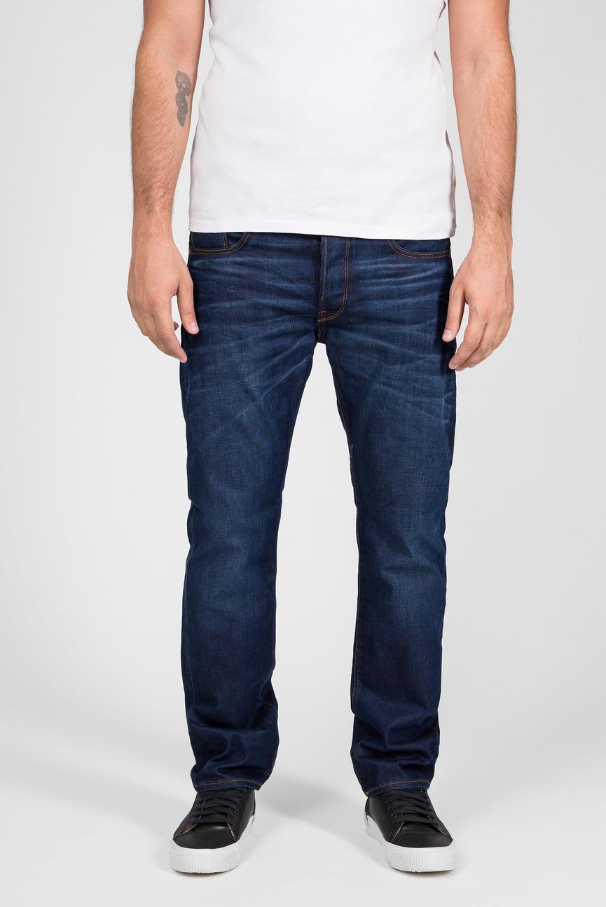 Мужские синие джинсы Straight