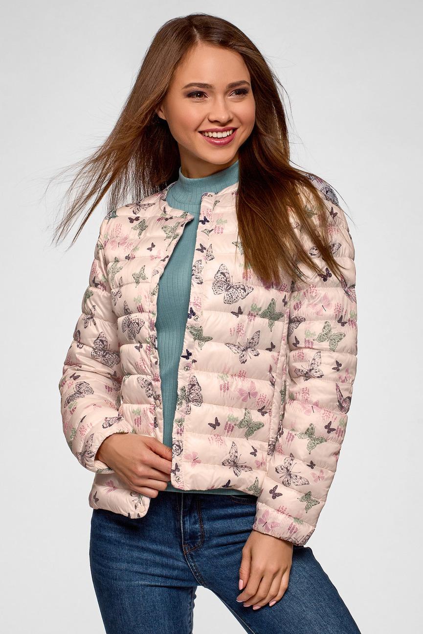 Женская бежевая куртка