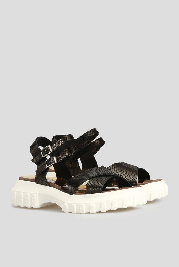 Женские черные сандалии ATLAN