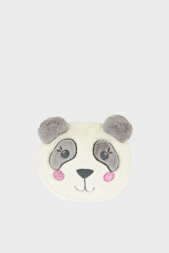 Детский белый рюкзак FLUFFY PANDA BACKPAC