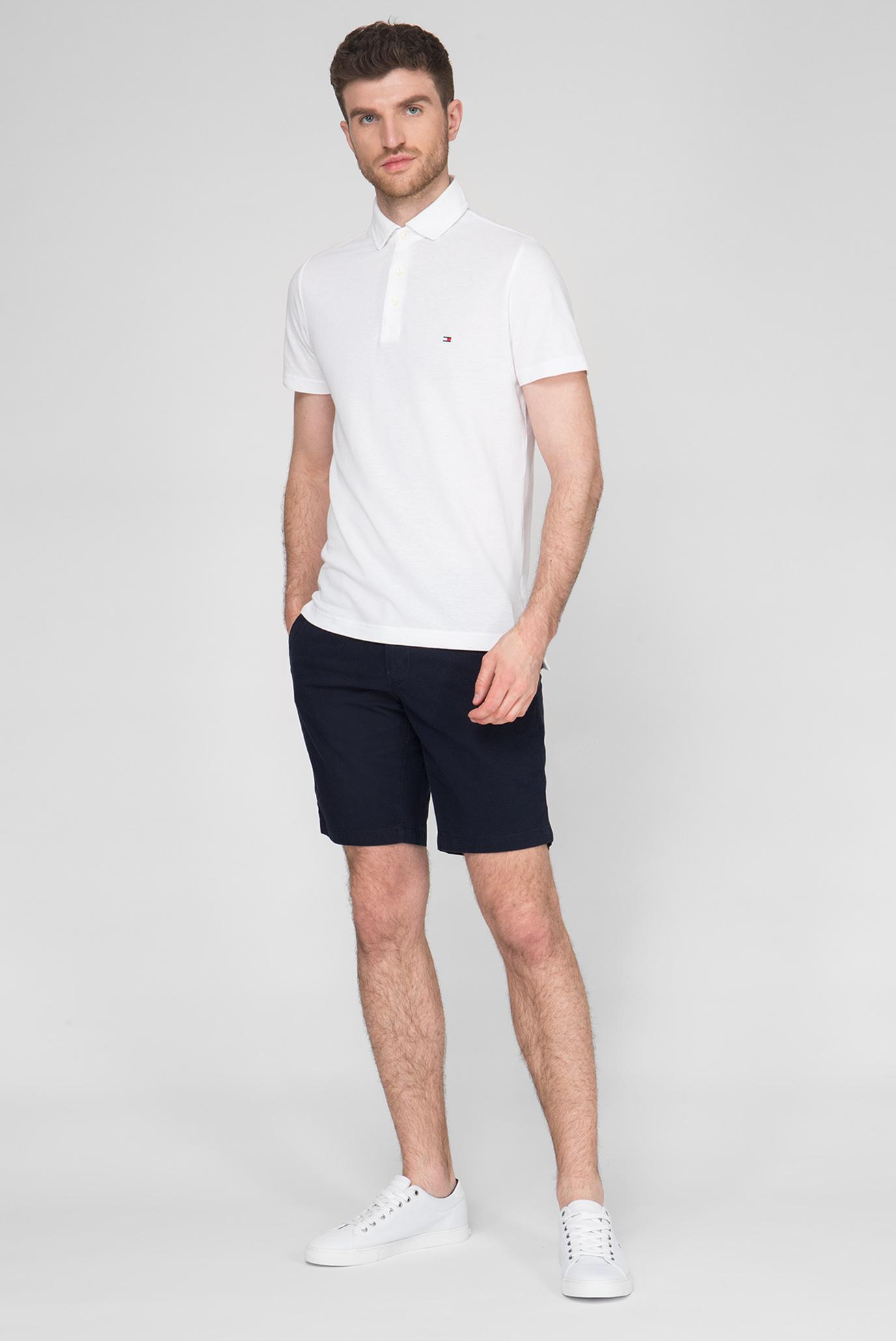 Мужское белое поло Slim Fit Tommy Hilfiger