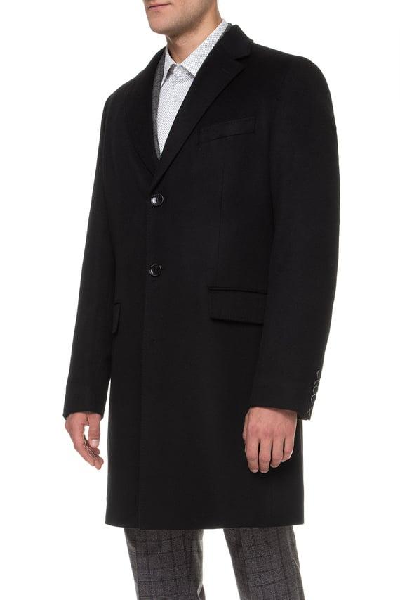 Мужское черное кашемировое пальто