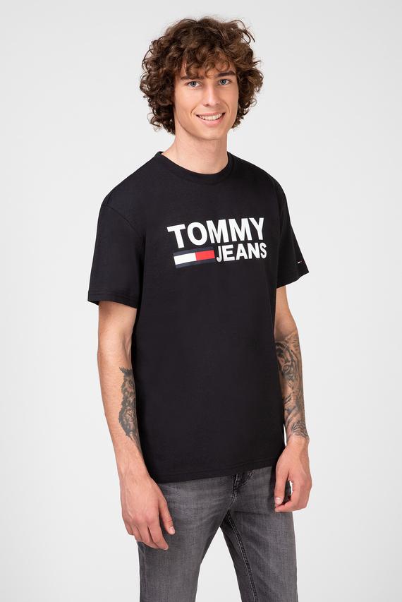Мужская черная футболка TJM TOMMY CLASSICS