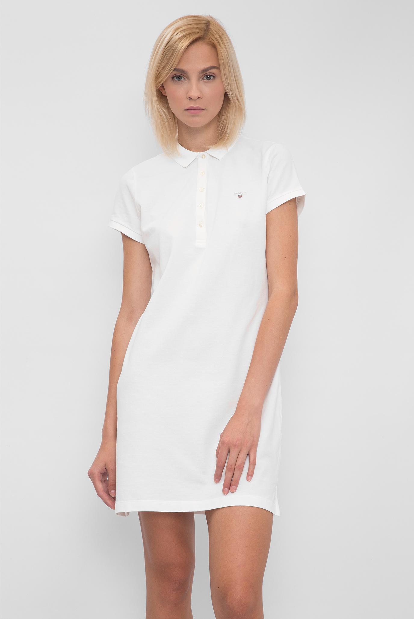 60d560f4e650 Купить Женское белое платье-поло Gant Gant 402300 – Киев, Украина ...