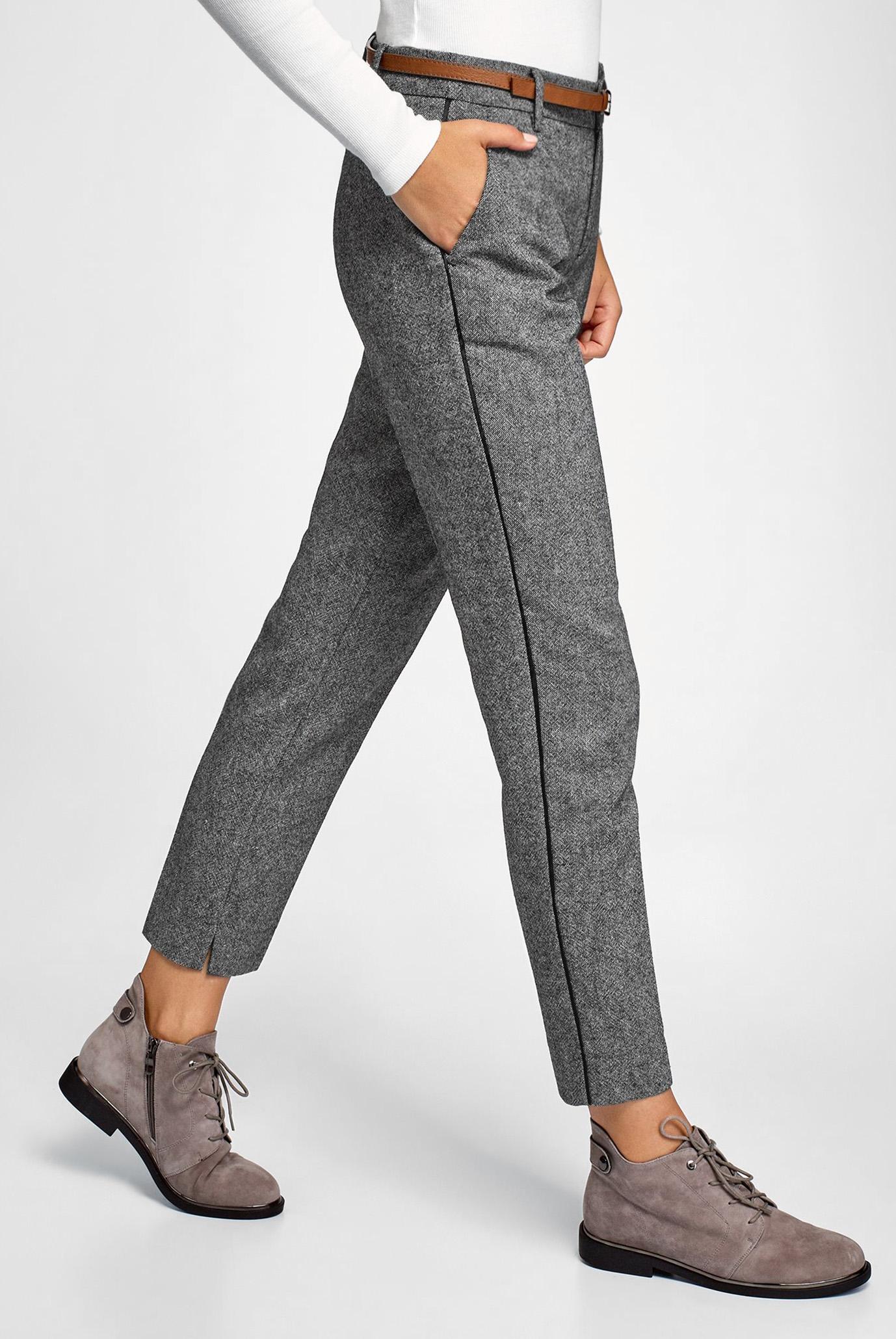 Женские серые брюки Oodji