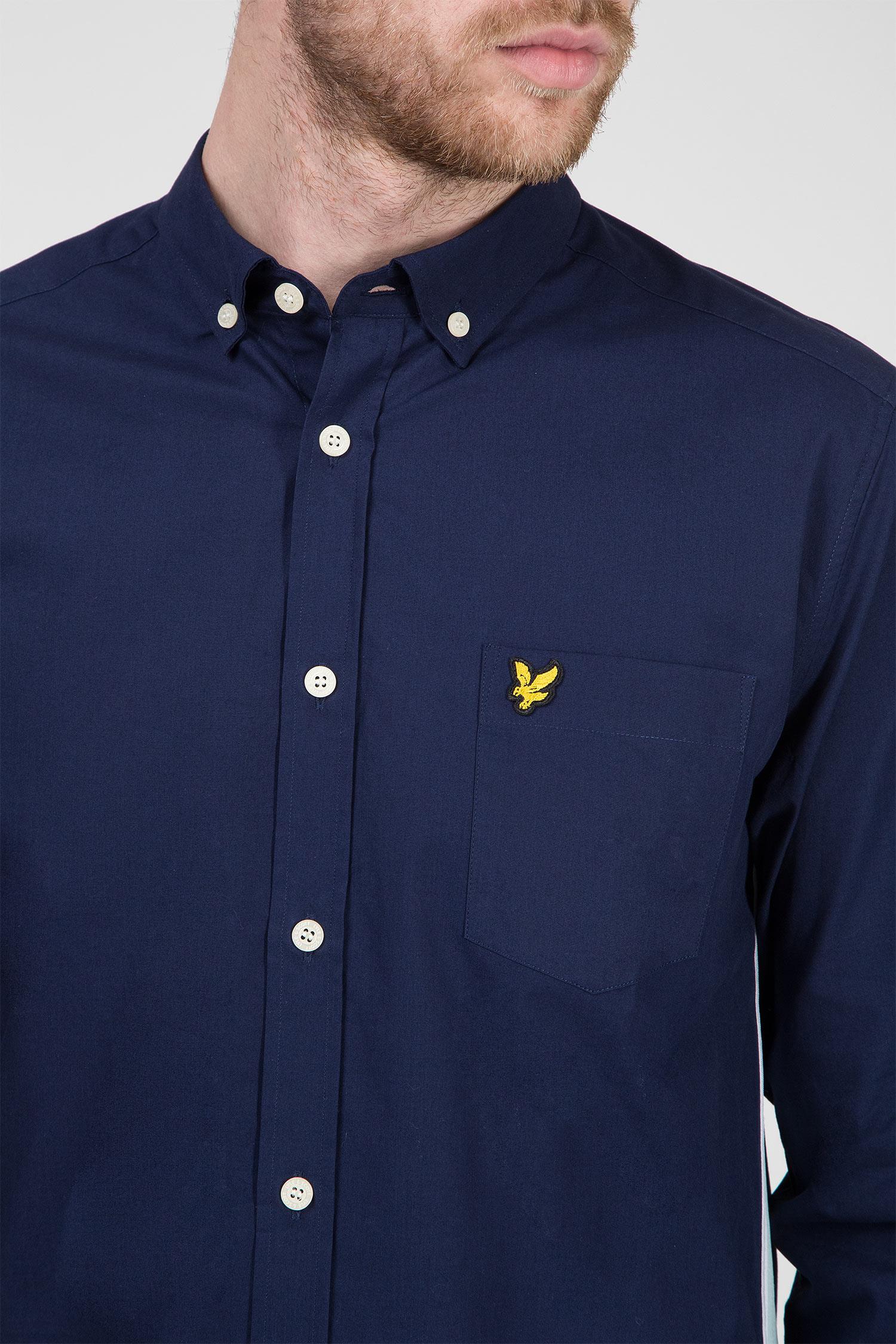 Мужская темно-синяя рубашка Lyle & Scott