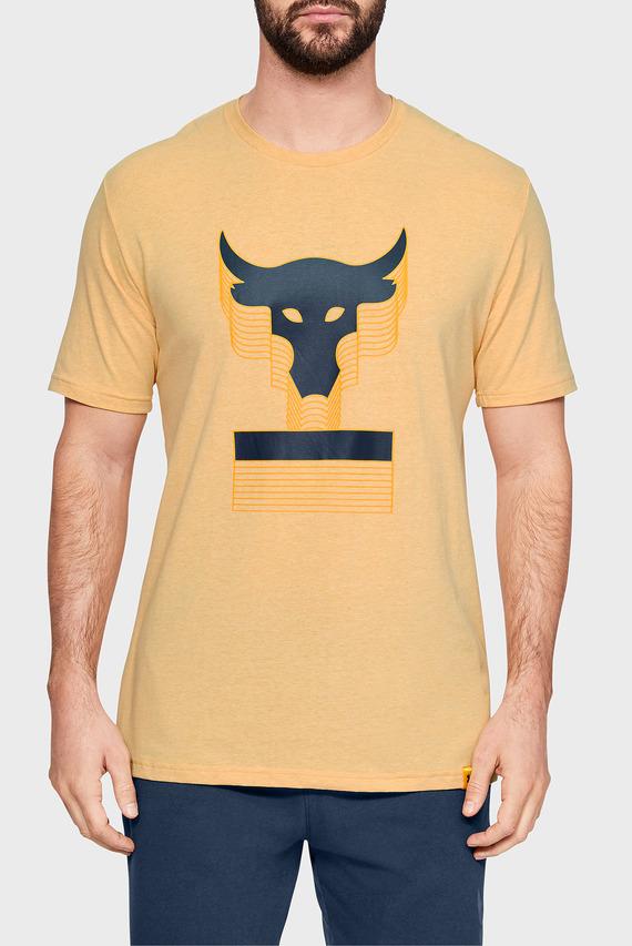 Мужская желтая футболка PROJECT ROCK ABOVE THE BAR