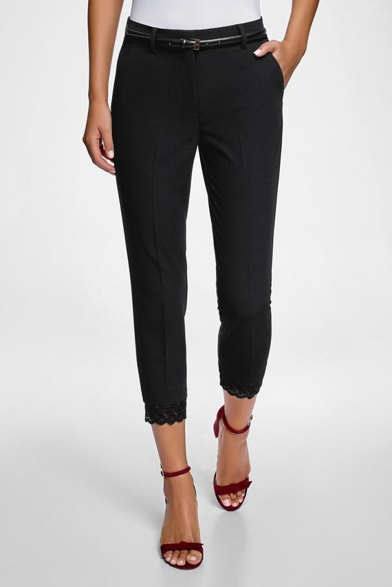 Женские черные укороченные брюки