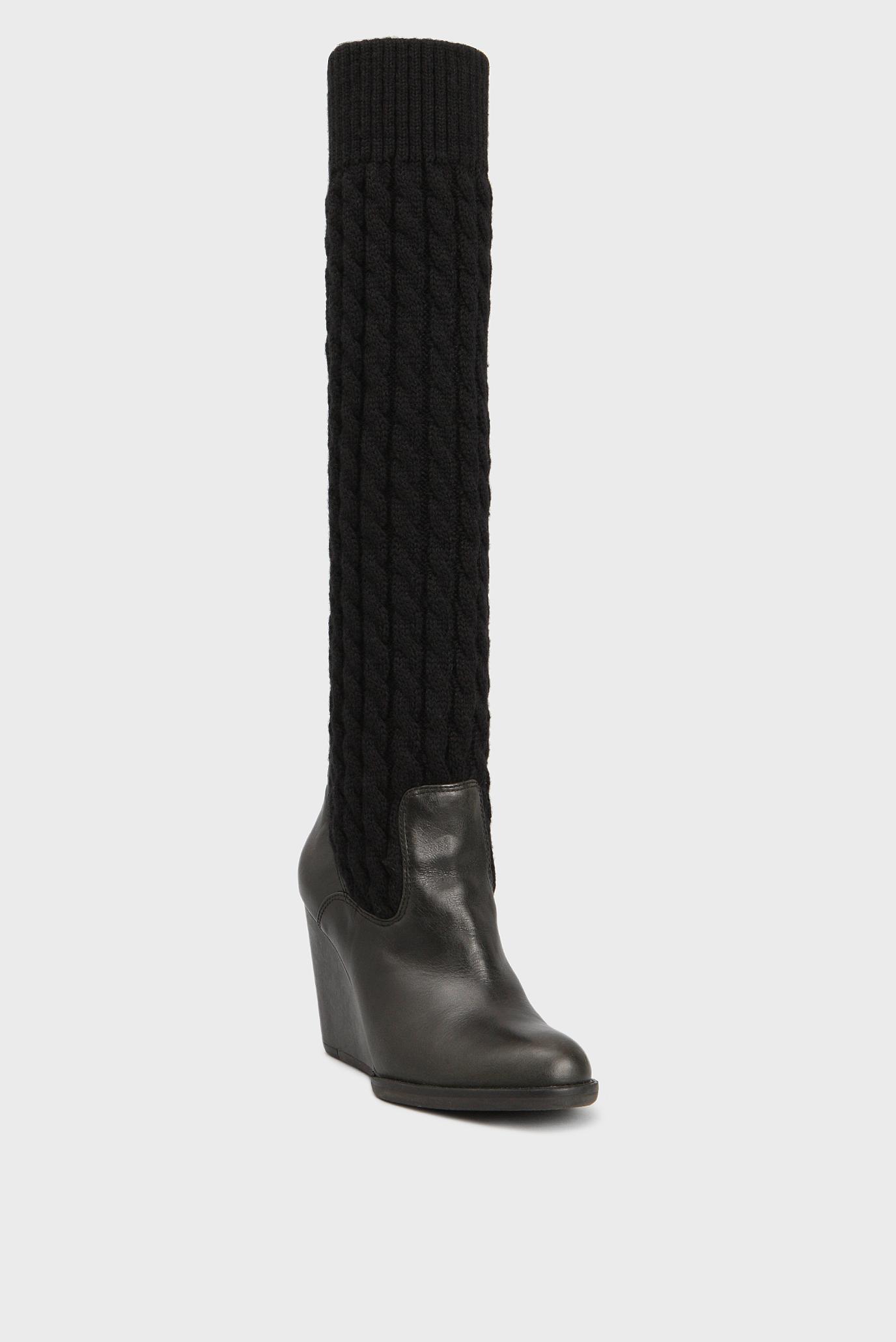 Купить Женские черные кожаные сапоги Tommy Hilfiger Tommy Hilfiger ... 817b899cb948c